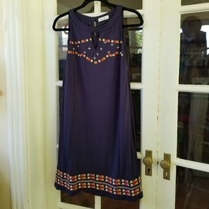 🆕️ THML - Embroidered Summer Dress - Navy Blue